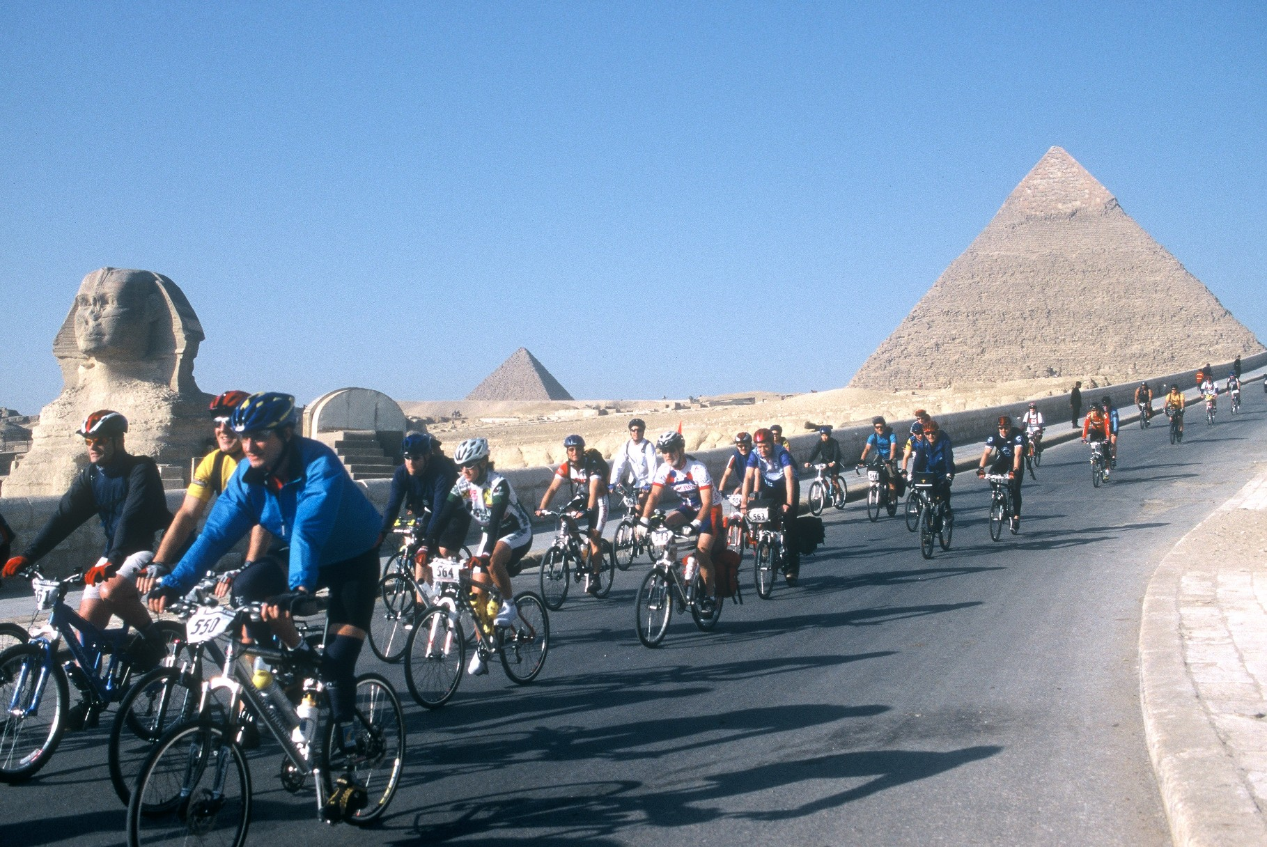 scene from day 1 of the 2004 Tour d'Afrique