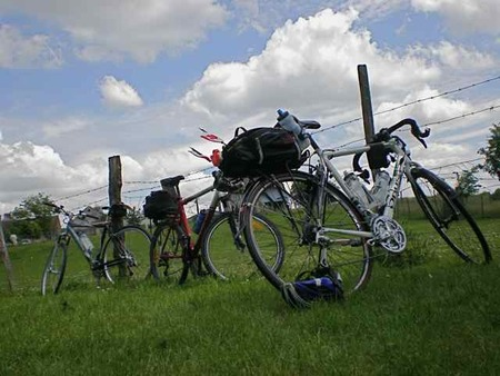 bicycles at the farm