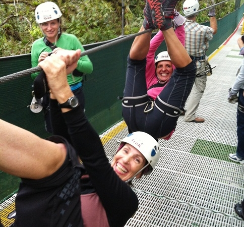 Suzette and Esti ziplining