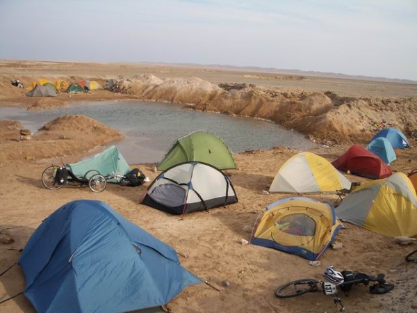 Desert camp next to the Red Sea