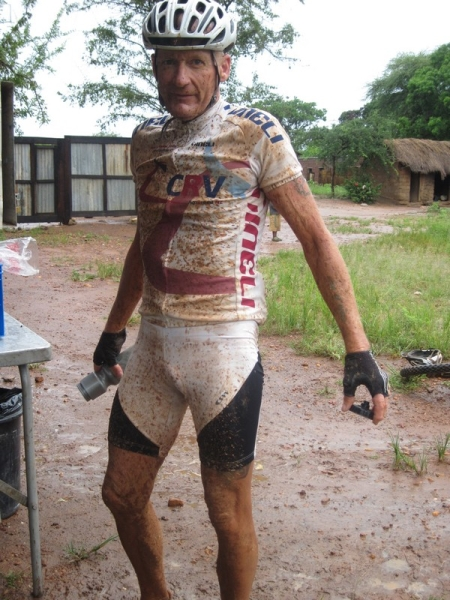John Faulkner in the mud of Tanzania