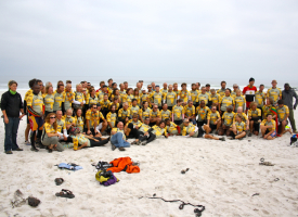 Tour d Afrique group shot at Kreefte baai