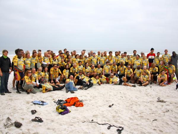 Tour d Afrique group shot at Kreefte baai