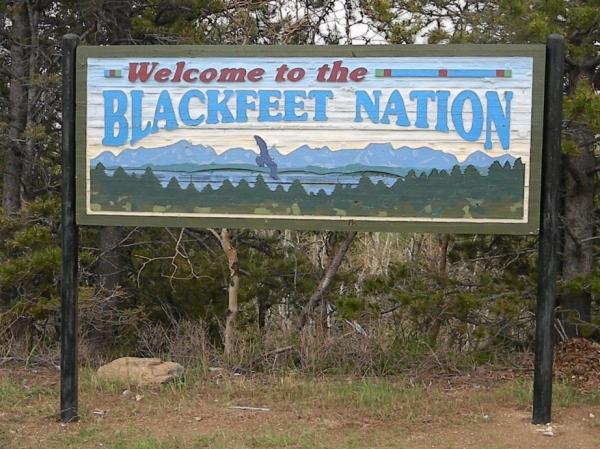 blackfeet nation sign reduced