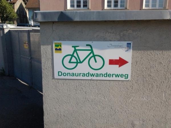Danube Cycleway sign