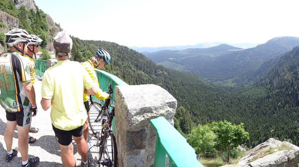 Riders admire the local scenery