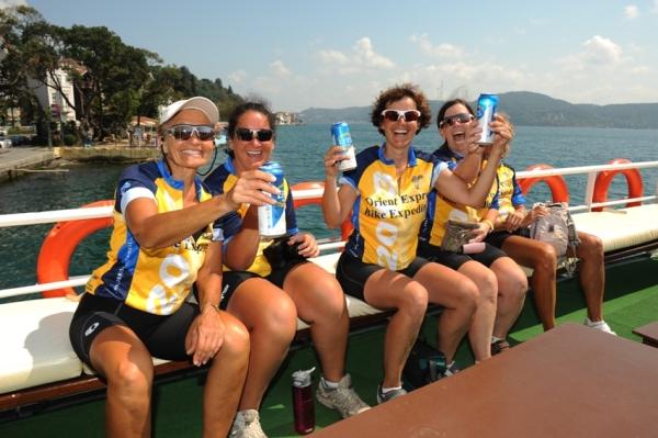 Celebrations on ferry