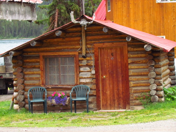 NAE 13 - Stage 16 - Rustic Cabins at REst Day Hotel in Muncho Lake - by Bob