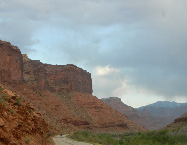 Colorado river Valley before Moab