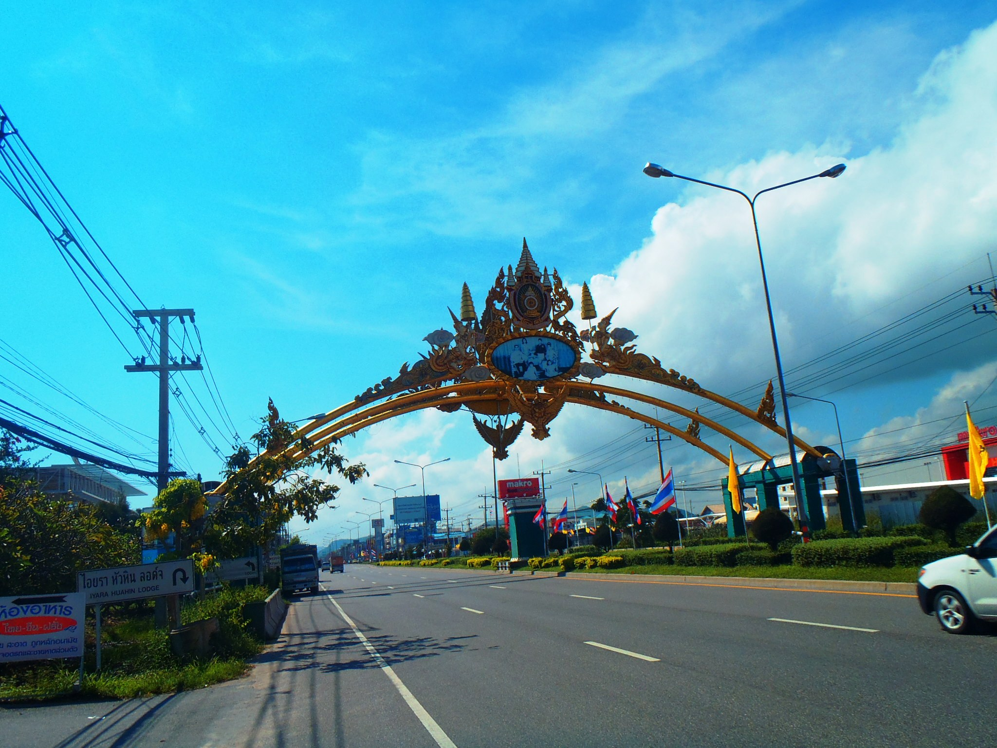 Cycling into Hua Hin