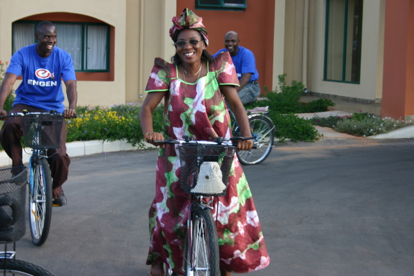 Martha from Mutata Memorial on her new bike