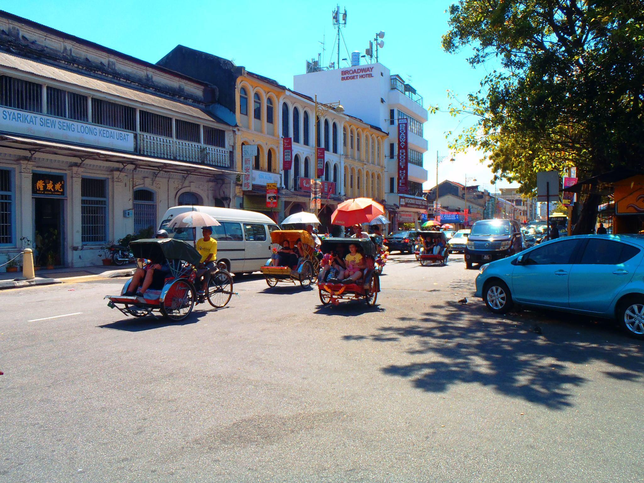 Cycling into Penang