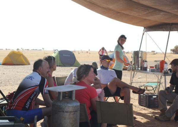 Resting at camp