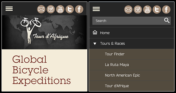 New features on tourdafrique.com