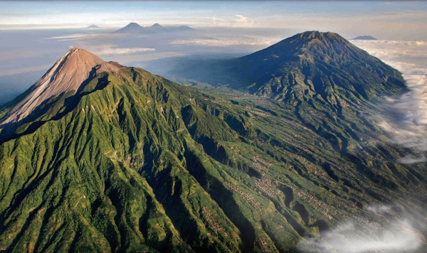 Merapi_and_6_other_Volcanoes_in_Java_Indonesia
