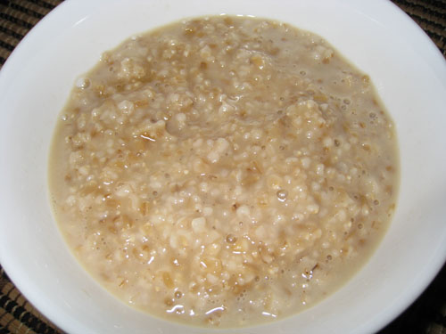 Oatmeal with Maple Syrup and Brown Sugar