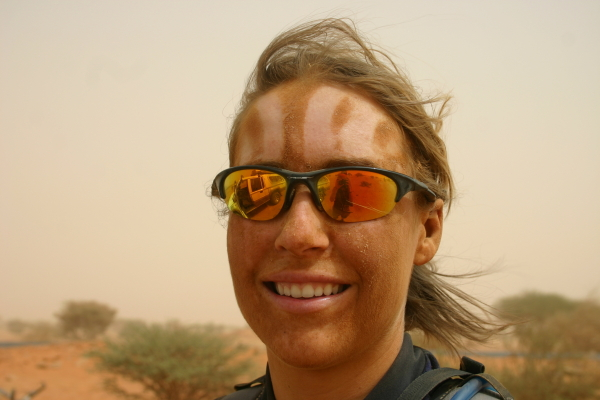 TDA rider after a sand storm