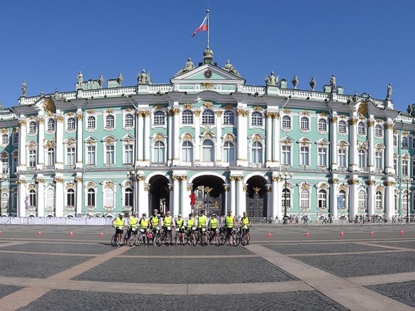 Tiny group in the great Sankt-Petersburg
