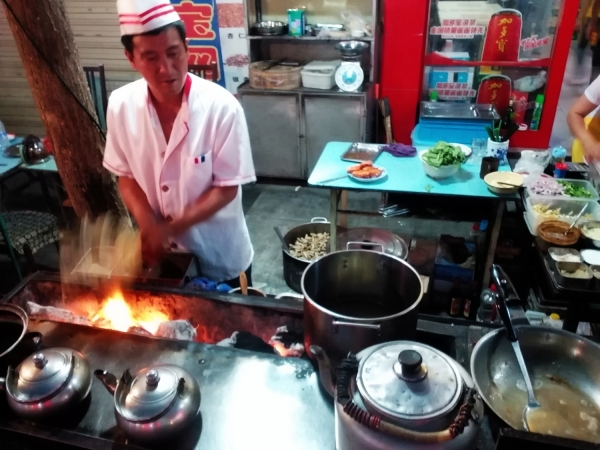 Uyghur Kebabs in Dunhuang