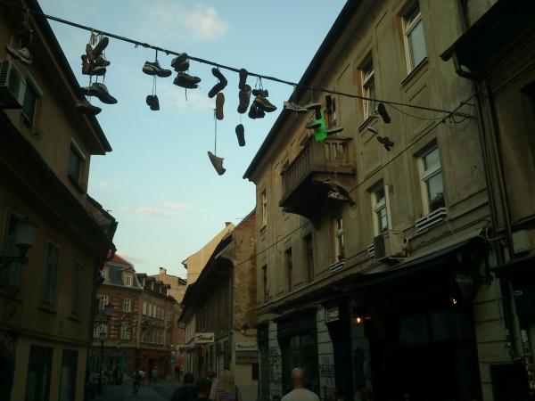 Slovenia - Street scene in Ljubljana
