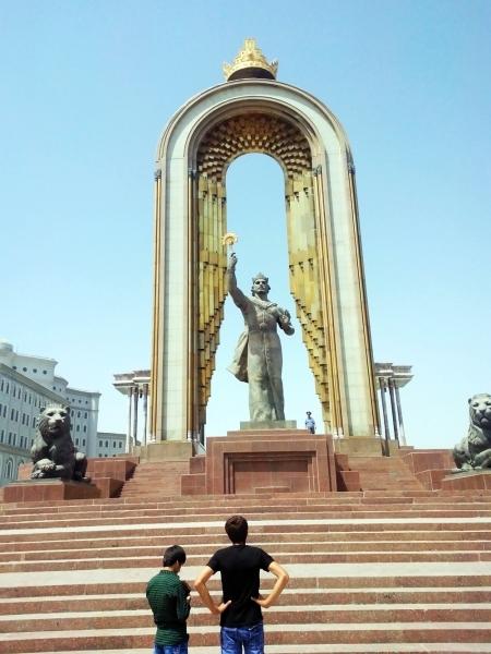 Somoni Statue in Dushanbe