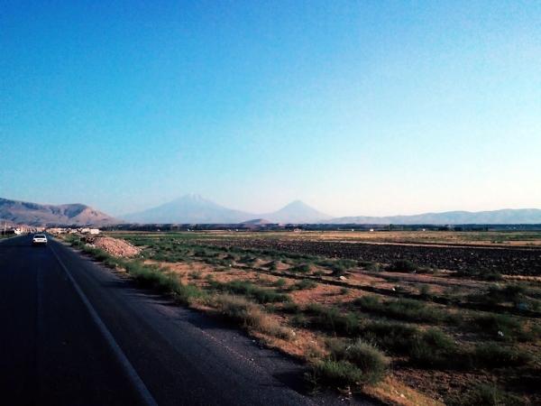 Mt Ararat on the left