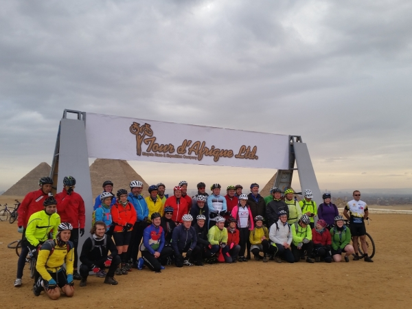 The 2015 Tour d'Afrique cyclists