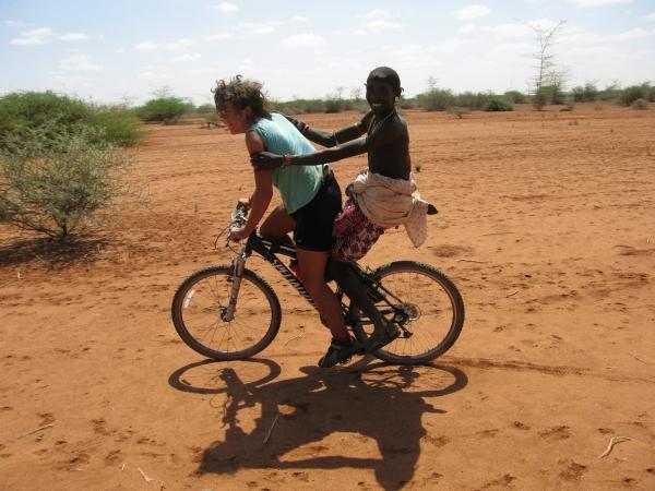 One bike two people