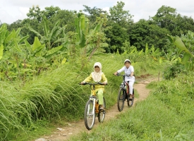 local cyclists Indonesia