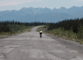Rough roads, good views, in Yukon.