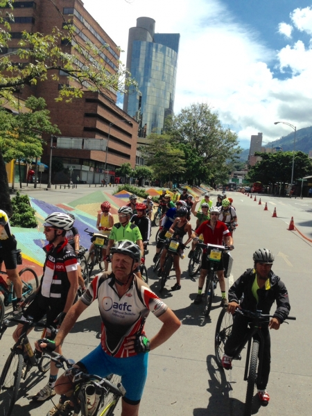 The Sunday Ciclovia in Medellin meant the streets were ours for the cycling