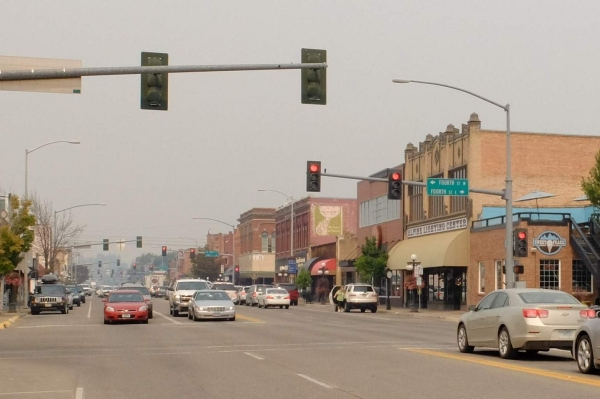Blog Pic 1 - Downtown Kalispell in the smoke.