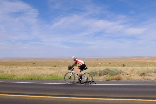 Beate rides the open plains of Navajo County.