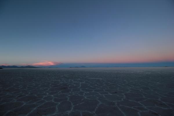 Salt flat sunset