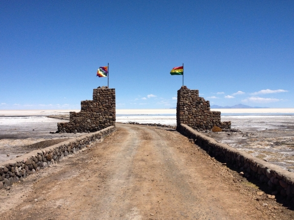 The entrance of the salt flats from Coquenza
