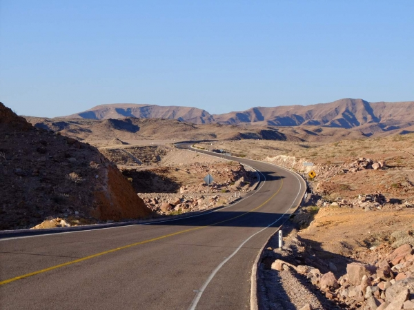 The smooth roads and beautiful scenery of northern Baja