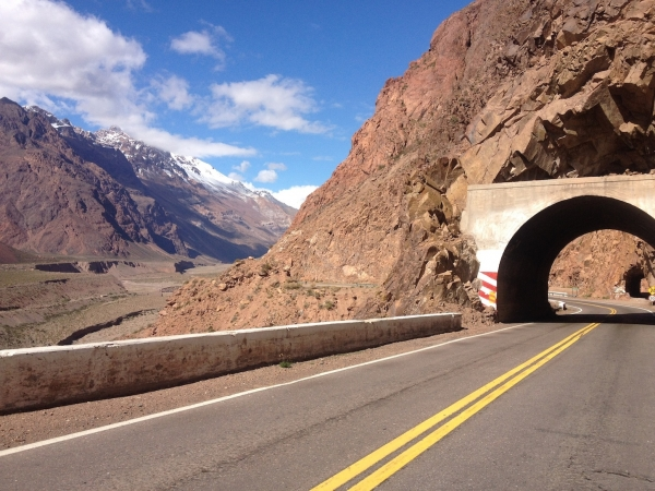 One of many tunnels on the road to the border