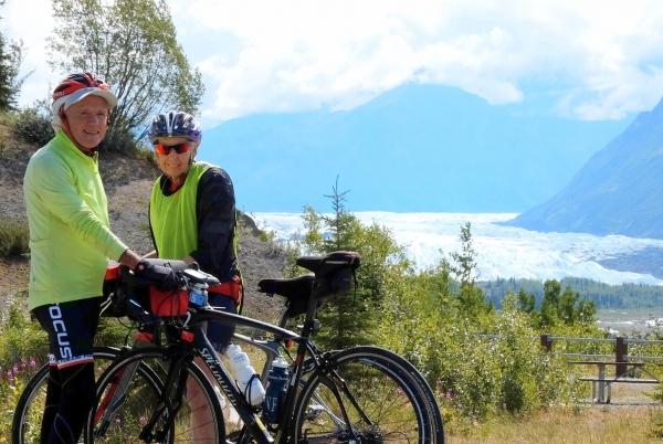 Rod and Diane with Matanuska Glacier behind