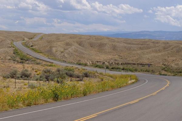 The dry, hot, colorado landscape.