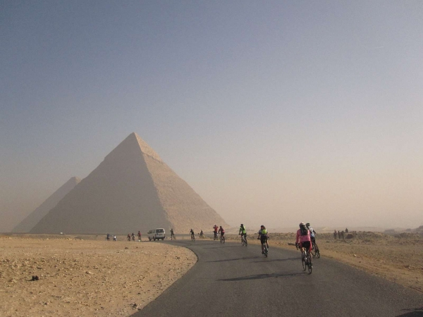 leaving the pyramids