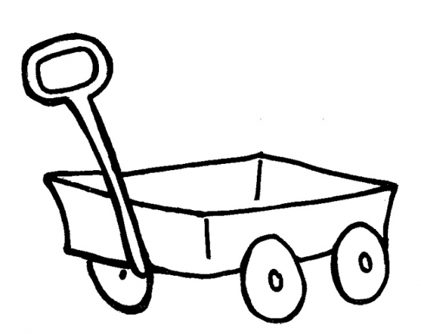 wagon train coloring pages | Hay Wagon Coloring Coloring Pages