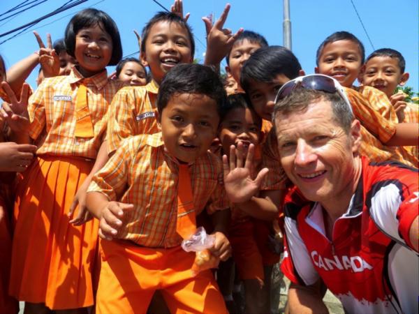 Meeting Indonesian school kids
