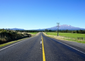 Mount Ruapehu is an active stratovolcano at the southern end of the Taupo Volcanic Zone in New Zealand.