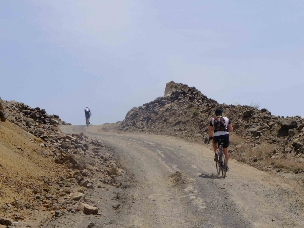 Riders face their first challenging terrain just days out of Beijing