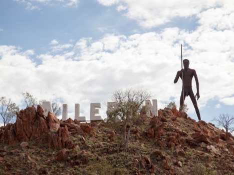 "Concluding the ""Bike the Outback"" Section in Alice Springs"