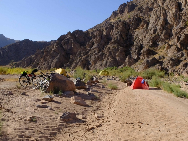 Some soft sand for camping in Iran