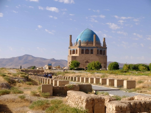 The stunning dome of Soltaniyeh in Western Iran