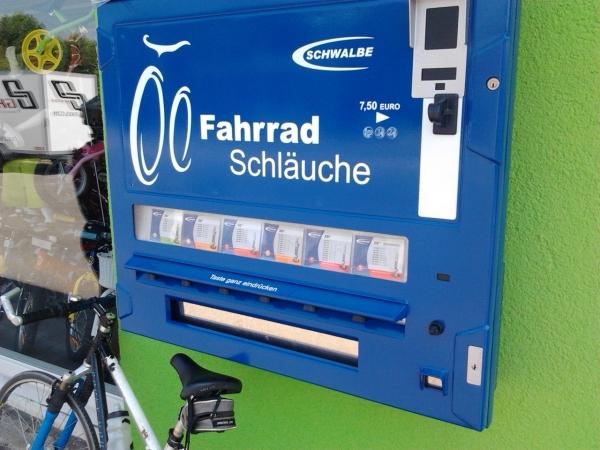 bicycle tube vending machine