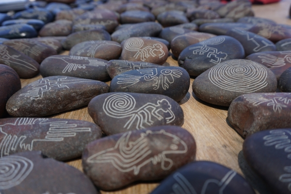 Souvenir stones of the famous Nazca lines