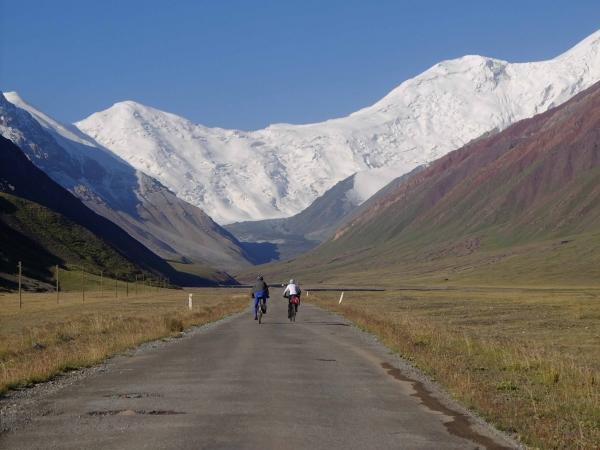 crossing the border to tajikistan